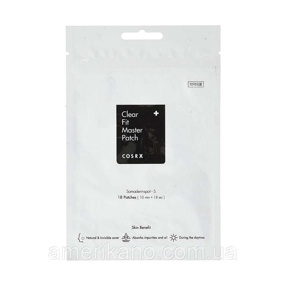 Гідрогелеві патчі від прищів COSRX Clear Fit Master Patch, 18 шт