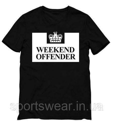 Мужская черная Футболка Weekend Offender Викенд Оффендер