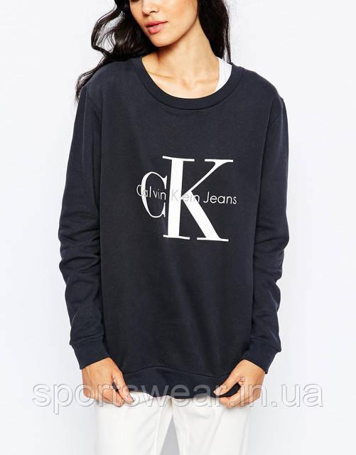 Женский Свитшот Calvin Klein Jeans Кофта ( Черный )