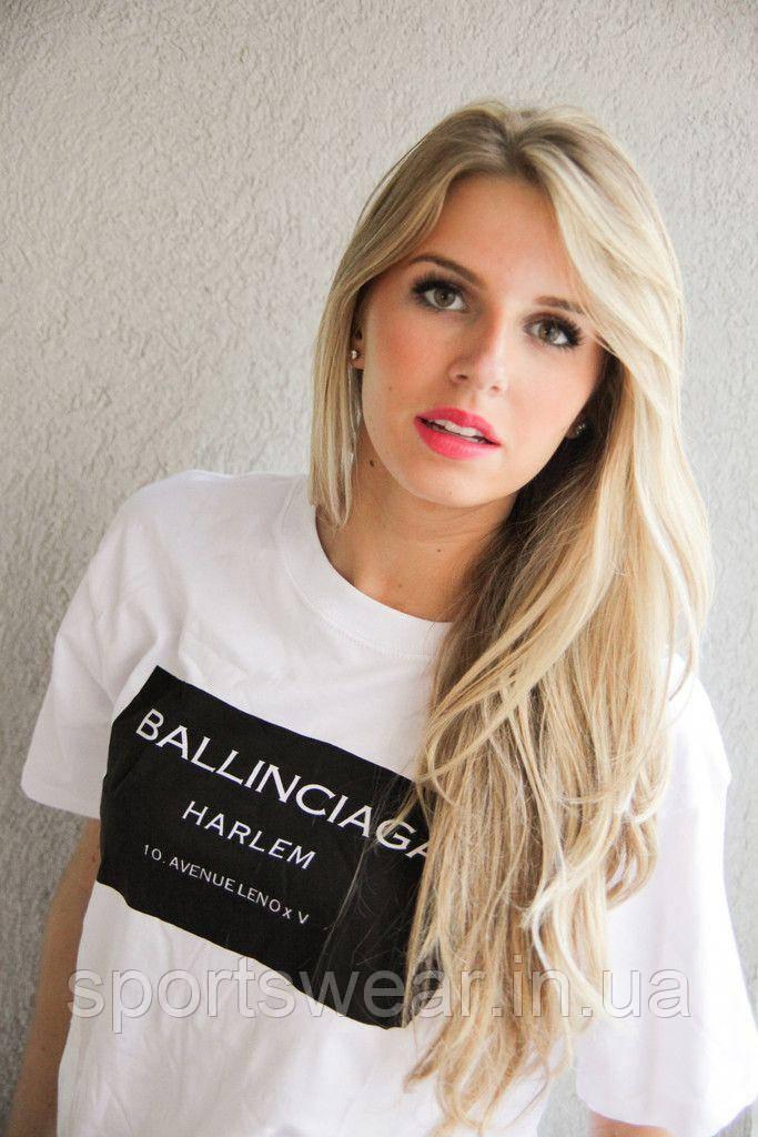 Женская Футболка BALLINCIAGA Баленсиага ( БЕЛАЯ )