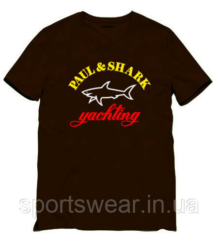 Мужская черная Футболка Paul Shark Паул Шарк
