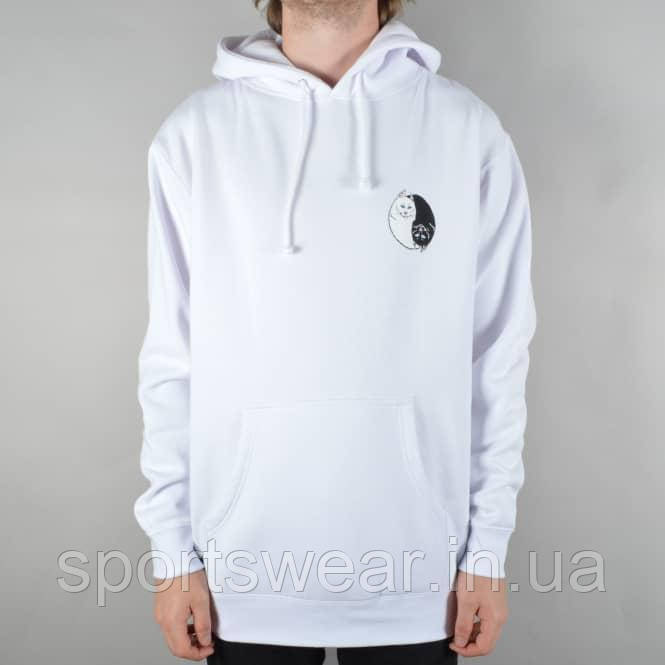 Худи Ripndip Yin Yang белое с логотипом, унисекс