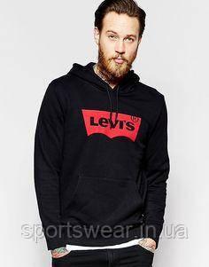 Худи Levis черное с логотипом, унисекс