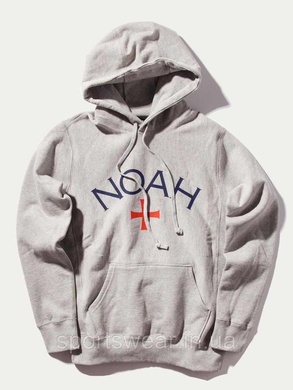 Худи NOAH серое c логотипом, унисекс