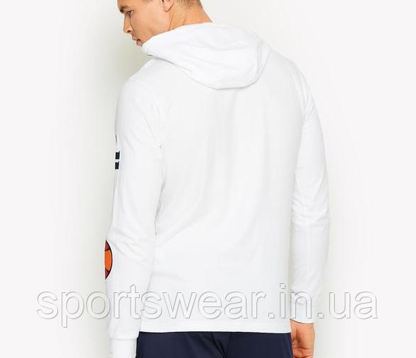 Худи Ellesse белое с логотипом, унисекс