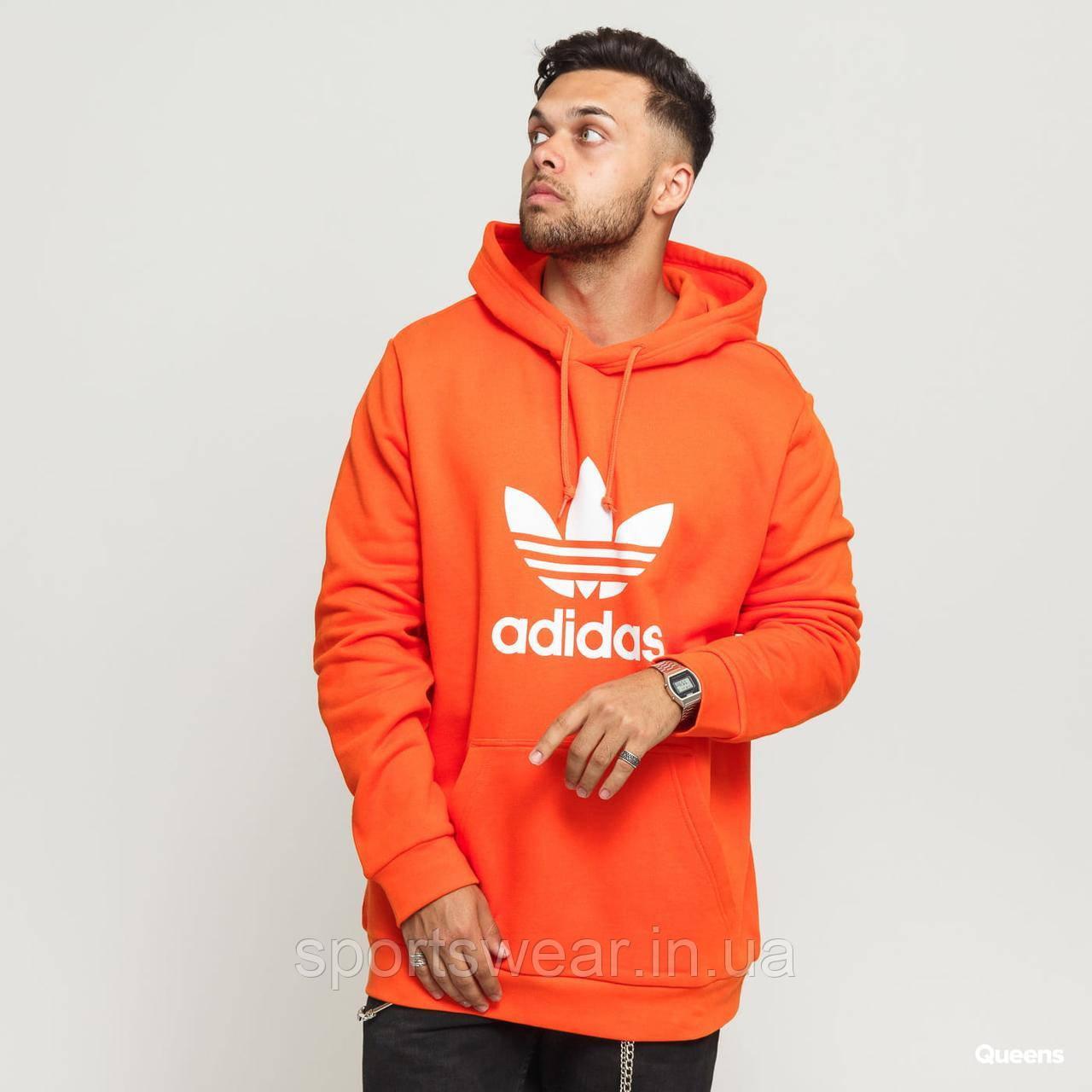 Худі Adidas Old School помаранчеве з логотипом, унісекс (чоловіче, жіноче, дитяче)