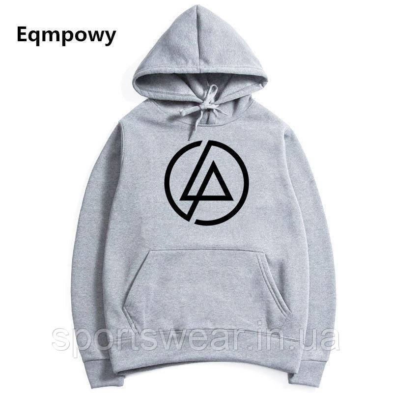 Худи Linkin Park серое с лого, унисекс