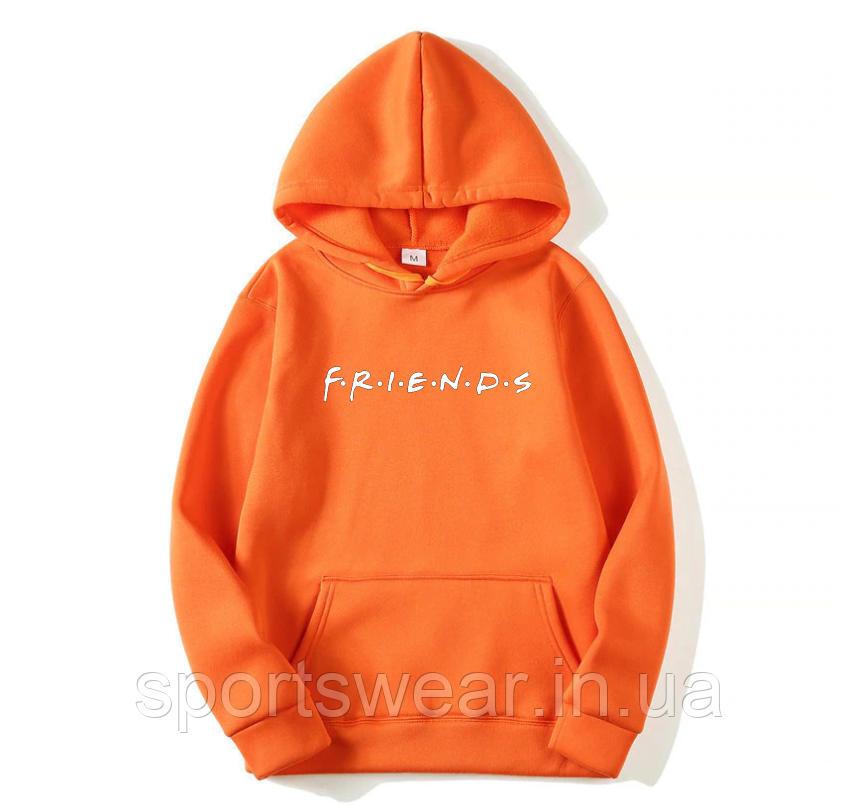 Худи Friends (друзья, друзi) оранжевое, унисекс