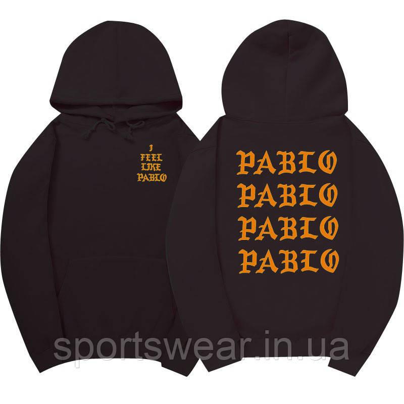 Худи Kanye West - I Feel Like Pablo черное с логотипом, унисекс