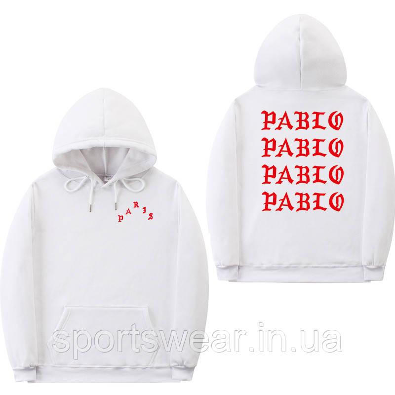 Худи Kanye West - I Feel Like Pablo Paris белое с лого, унисекс