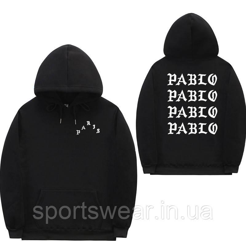 Худі Kanye West - I Feel Like Pablo Paris чорне з логотипом, унісекс (чоловіче, жіноче, дитяче)