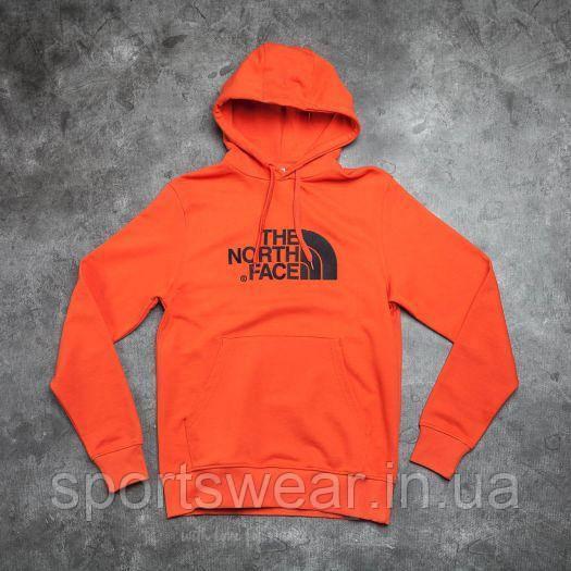 Худи The North Face оранжевое с логотипом, унисекс