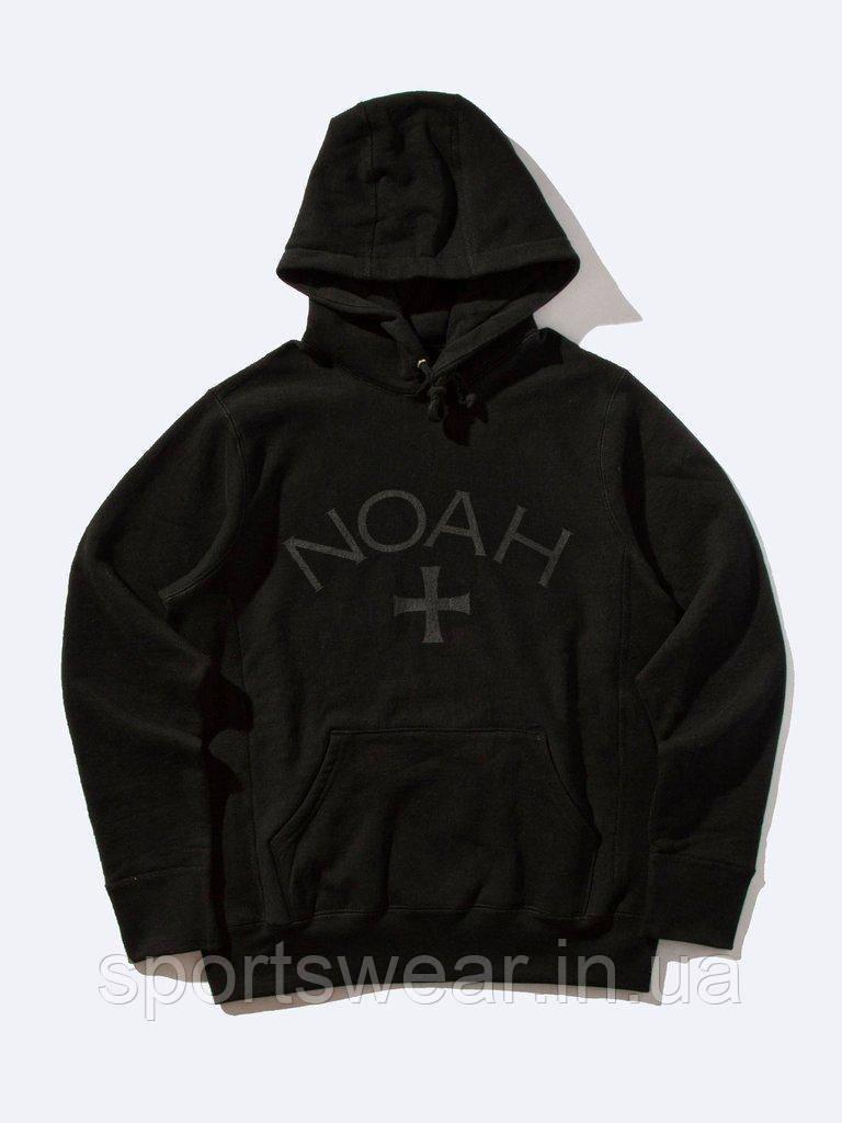 Худі NOAH чорне c темно-сірим логотипом, унісекс (чоловіче, жіноче, дитяче)