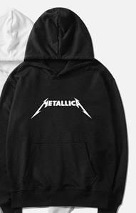 Худи толстовка Metallica черная с логотипом, унисекс (мужская,женская,детская)