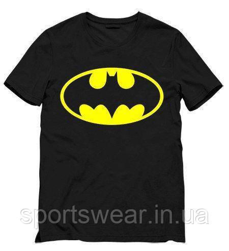 Футболка Batman черная с логотипом, унисекс (мужская, женская, детская)