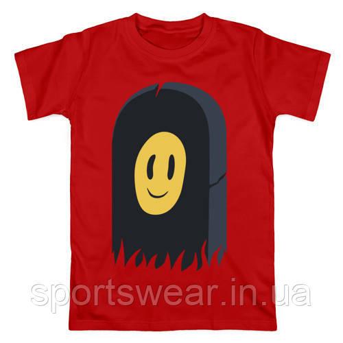 Футболка Пошлая Молли красная с логотипом, унисекс (мужская,женская,детская)
