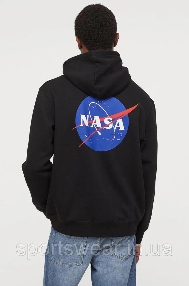 Худи NASA Two-Sided черное, унисекс