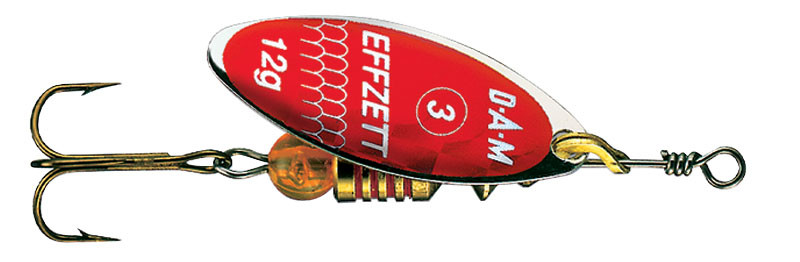 Блешня-вертушка DAM Effzett Predator 4г (red/glitter)