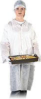 Защитный халат из полиэтилена на кнопках Reis (FLAB) белый
