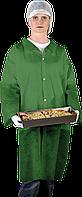 Защитный халат из полиэтилена на кнопках Reis (FLAB) зеленый