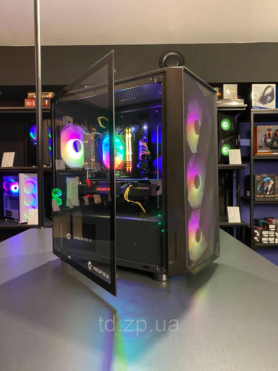 Игровой компьютер Intel Core i5-10400f + RTX 3060Ti 8Gb + RAM 16Gb + HDD 1000Gb + SSD 240Gb