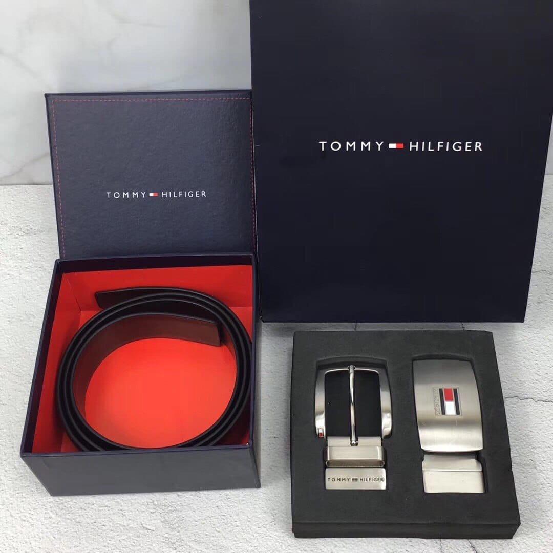 Мужской двухсторонний кожаный Ремень Томми Хилфигер