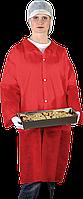 Защитный халат из полиэтилена на кнопках Reis (FLAB) красный