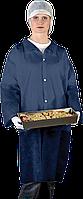 Защитный халат из полиэтилена на кнопках Reis (FLAB) темно-синий