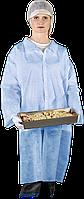 Защитный халат из полиэтилена на кнопках Reis (FLAB) голубой