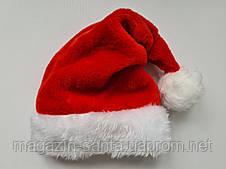 Новорічна шапка Діда Мороза Світло-Рожева Ковпак Санта Клауса Santa Claus для Дорослих