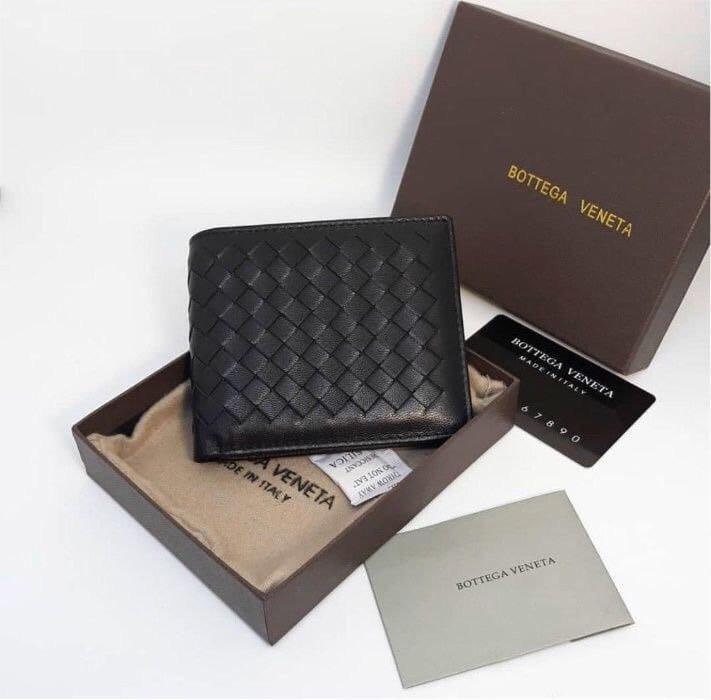 Мужской черный Бумажник Bottega Veneta
