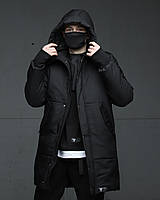 Зимова чоловіча парку куртка чорна Зорг (Zorg) від бренду ТУР, розміри: S, M, L, XL