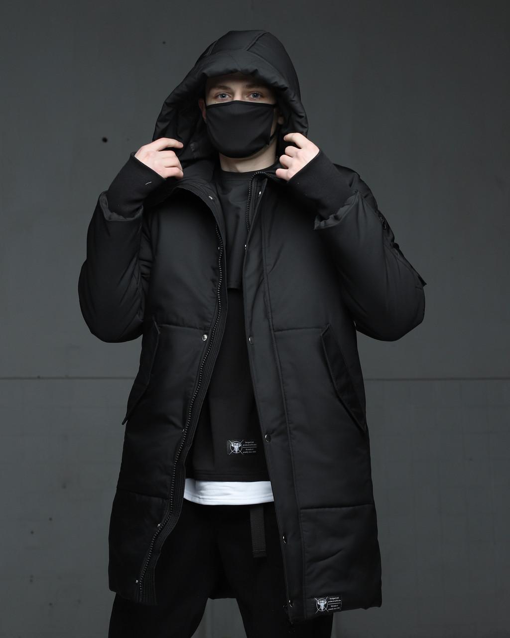 Зимняя мужская парка куртка черная Зорг (Zorg) от бренда ТУР