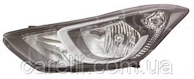 Фара правая электро (тип EUR) белая вставка без LED для Hyundai Elantra 2014-16