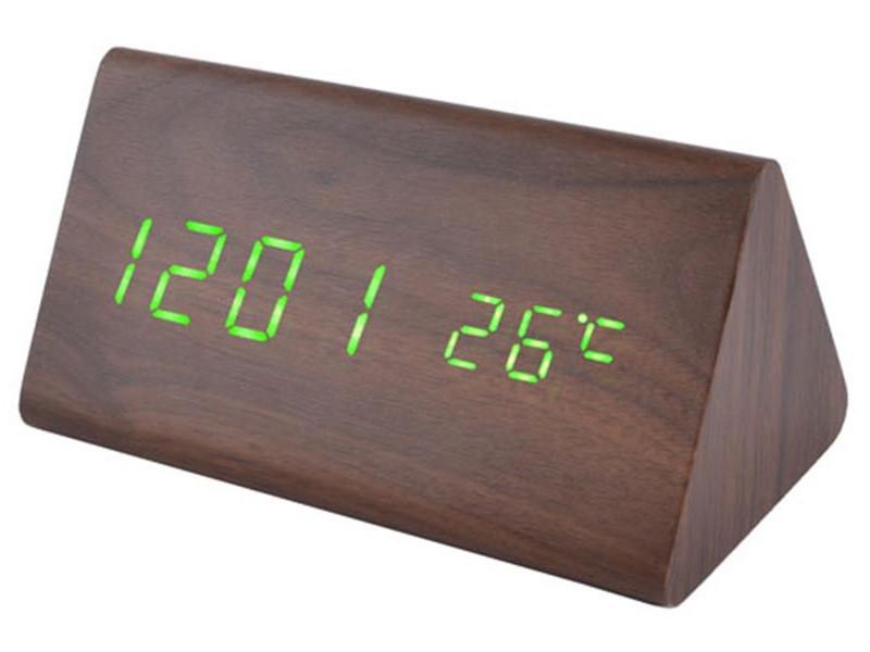 Часы VST-861-4 салатовые, температура, дата, будильник.