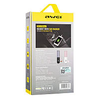 Bluetooth гарнитура Awei A870 Black with car charger 1USB 2.1A, фото 1