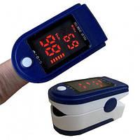 Медицинский электронный портативный синий прибор Oximeter Пульсоксиметр Пульсометр на палец LK87 оксиметр