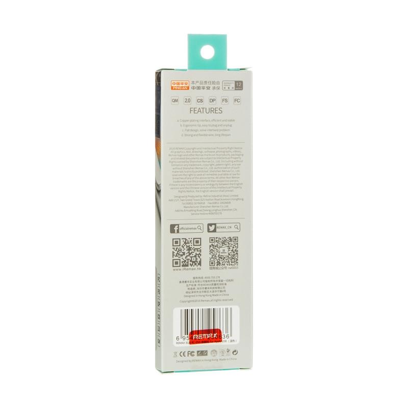 USB кабель Remax Lesu RC-050i iPhone 5/6 Blue 1m