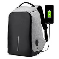 Рюкзак Bobby Антивор черный или серый с USB, фото 1