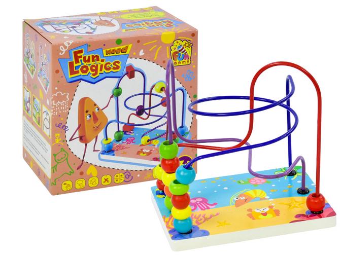 Деревянная  игра лабиринт для малышей.Игра лабиринт для детей. Настольная игра для малышей лабиринт