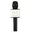 Мікрофон-караоке Q7 акумулятор 25 см, USB, Bluetooth, мікс кольорів, у футлярі, фото 2