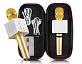 Мікрофон-караоке Q7 акумулятор 25 см, USB, Bluetooth, мікс кольорів, у футлярі, фото 5