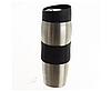 Термокружка металлическая с поилкой Benson BN-40 черная (380 мл) | термостакан из нержавеющей стали |