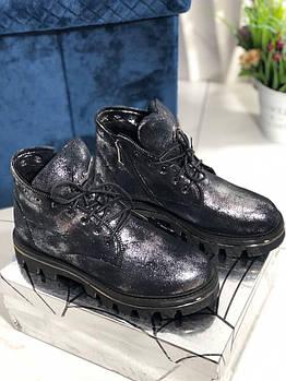 Зимние женские ботинки на шнуровке  Vensi V2