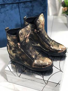 Женские зимние ботинки на скрытой танкетке ботинки Vensi V8