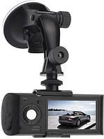 Автомобильный видеорегистратор X3000AV на 2 камеры | авторегистратор | регистратор авто, фото 1