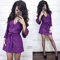 Короткое платье с паетками, фото 3