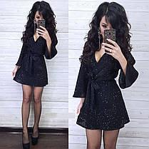 Короткое платье с паетками, фото 2