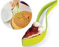 Нож для торта Magisso Cake Server Зеленый | кондитерский нож - лопатка для порционной нарезки, фото 1