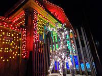 Гирлянда зерно 200LED 15м Микс (RD-7166), Новогодняя бахрама, Светодиодная гирлянда, Уличная гирлянда, фото 1